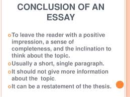 what is an essay 9 conclusion of an essay