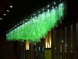 contemporary chandelier glass led bamboo forest by jitka kamencová skuhravá