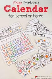 FREE Printable Interactive Preschool Calendar