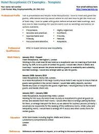 Hotel Job Resume Format Resume Template Ideas
