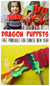 Learn to write numbers in chinese. Chinese New Year Craft Dragon Puppet Printable