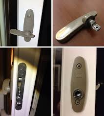 user submitted photos of a patio door lock