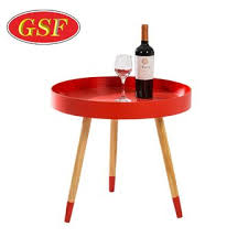modern round nesting coffee tables with solid pine legs red small round side coffee table