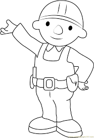 Small Picture Bob the Builder Showing Something Coloring Page Free Bob the