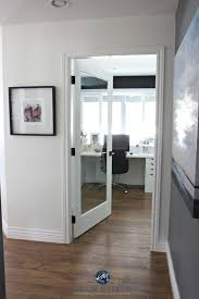 home white. French Door To Home Office. Sherwin Williams Creamy White