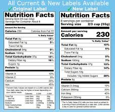 Nutrition Labels Template Your Best Choice For Nutrition Facts Label Creation Software