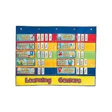Learning Center Pocket Chart Classroom Centers Pocket Chart 49 Piece Set Educational Learning Aids