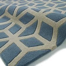 hong kong geometric rug 326 teal beige 120 x 170 cm 4