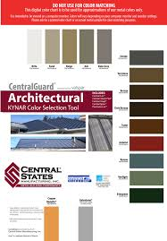 Central States Metal Color Chart Bowsers Metal Roofing In Arkansas Bowsers Metal Roofing