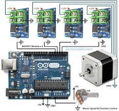 stepper motor controller with arduino schematic