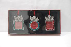 st nicholas square photo frames 3 pc ornament set angels nib stnicolquare