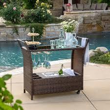 outdoor wicker bar cart view larger