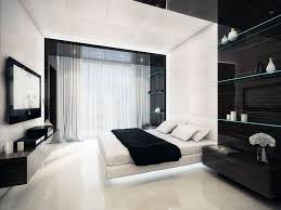 Modern Bedroom Shelves Delightful Black And White Room Decor With Modern Tv Wall Also
