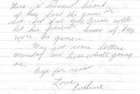sepia saturday eveline s changing penmanship abbie and eveline coates eveline writing sample 1986