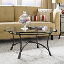 coffee tables round glass coffee table with iron legs and frame