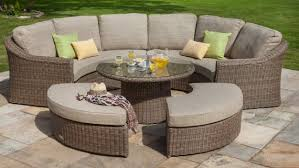 hartman hartman bali 8 seat curved garden furniture lounge set rattan garden furniture the garden furniture company