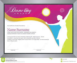 Dance Award Certificate Dancing Award Stock Vector Illustration Of Ballet