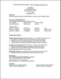 Resumes Samples Magnificent Functional Resume Samplesexamplessamples Free Edit With Word