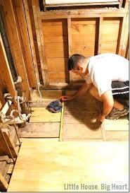 bathroom subfloor replacement. Replacing A Subfloor In Bathroom Little House Big Heart How To Repair Damage 5 Install . Replacement