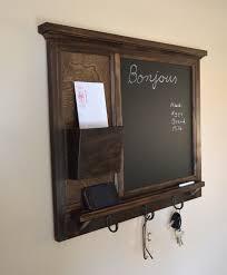 mail holder wall mount chalkboard mail organizer letter holder key coat hat rack rustic home decor mail organizer wall mount