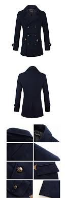 special for the new trade men s wool coat double mouth warm jacket pure white winter coat