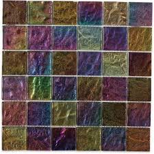 splashback tile iridescent gold bricks 9 3 4 in x 13 in