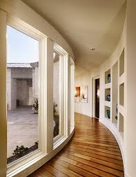 designs ideas curved hallway with large windows and wood floor 15 interesting modern hallway decorating