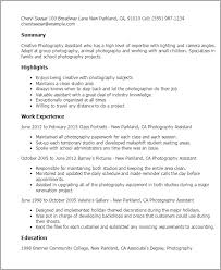 Photography Resume Inspiration 40 Photography Assistant Resume Templates Try Them Now MyPerfectResume