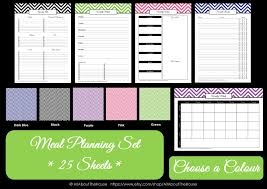 meal planning chart household binder meal planning set allaboutthehouse printables
