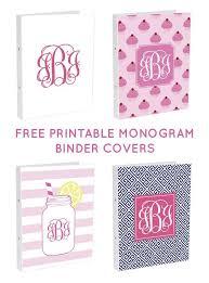 Free Printable Binder Covers Crafty Texas Girls Free Monogram Binder Covers