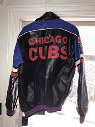 details about chicago cubs g iii sports by carl banks varsity jacket men s medium big logo