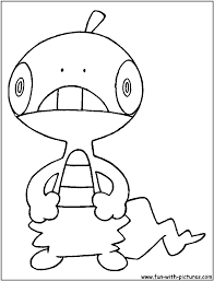 Small Picture Scraggy Coloring Page Pokemonia Pinterest Pokemon coloring