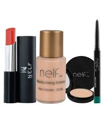 nelf usa lipstick foundation pact eyeliner makeup kit pack of 4 nelf usa lipstick foundation pact eyeliner makeup kit pack of 4 at best