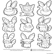 Coloriage Pokemon Eevee Evolutions List Dessin Imprimer Avec