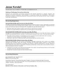 sample resume for accounting internship | Template sample resume for accounting internship