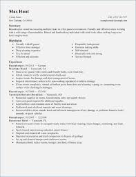 housekeeping resume templates housekeeping resume sample globish me