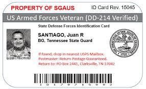 Member Premium And Sgaus Id Introducing The Veteran Card
