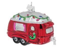 Baumschmuck Wohnwagen Baumkugel Caravan Weihnachtsdeko Christbaumkugel