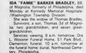 Obituary for IDA BRADLEY BARKER (Aged 88) - Newspapers.com