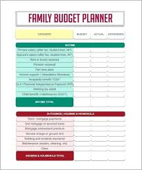 online family budget free online budget template