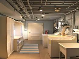 lighting ideas for basements. crafty inspiration ideas low ceiling basement lighting comfortable laundry room design with white washing for basements e