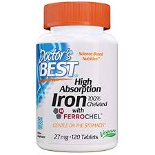 Buy Doctor's Best <b>High Absorption Iron</b> With Ferrochel, 27 mg, 120 ...