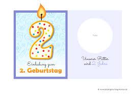 Einladung 2 Geburtstag Originelle Vorlagen Zum Herunterladen