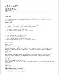Line Cook Resume Inspiration Resume Objective Examples For Cooks Line Cook Example Of Resumes