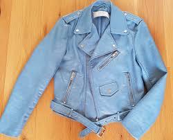 zara blue faux leather jacket size xs 1 sur 4seulement 1 disponible