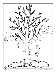 And when it comes to drawing trees and capturing their character, focus on the basic shapes, lines, and. Fall Trees Dot To Dots Woo Jr Kids Activities