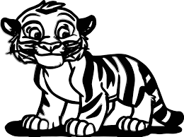 Small Picture Cartoon Tigers Coloring Pages anfukco