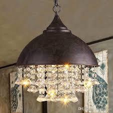Modern Crystal Chandeliers American Industrial Chandelier Lights Fixture  Hanging Pendant Lamps Home Indoor Lighting Metal Retro Droplight Flush  Mount ...