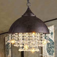 modern crystal chandeliers american industrial chandelier lights fixture hanging pendant lamps home indoor lighting metal retro droplight flush mount