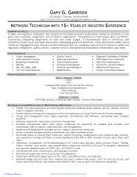 Telecommunication Technician Resume Template Bongdaao Com